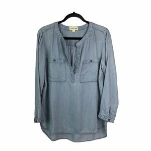 Anthropologie Cloth & Stone Tencel Tunic Top Med